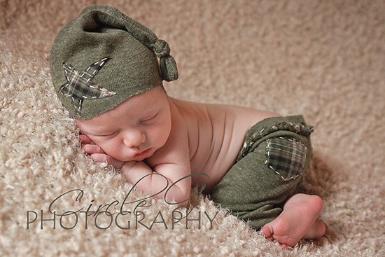 newborn hat and pant set