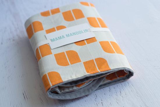 orange retro blanket