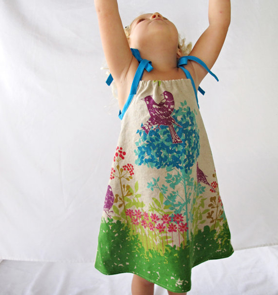 Etsy find of the day - Blissful Day printed linen dress