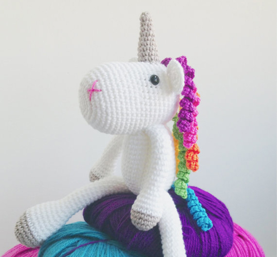Knitting Pattern For Unicorn Toy : Etsy find of the day - knitted unicorn plush toy