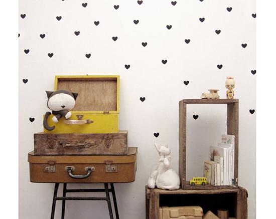 black heart wall decal