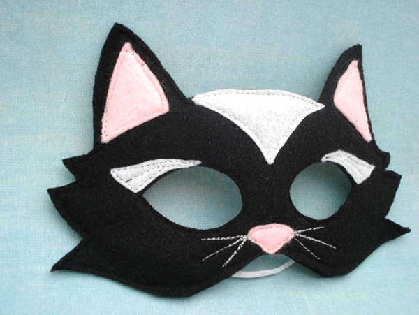 cat mask Etsy find of the day   black cat mask