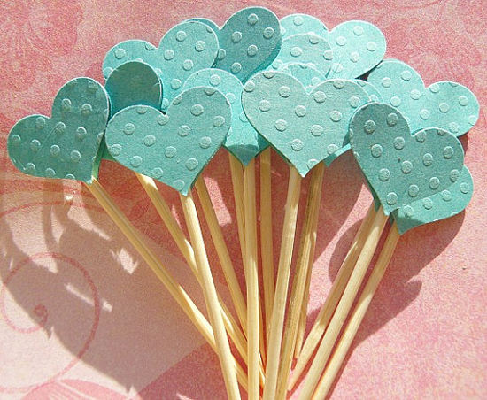 heart cupcake toppers Etsy find of the day   baby shower cupcake toppers