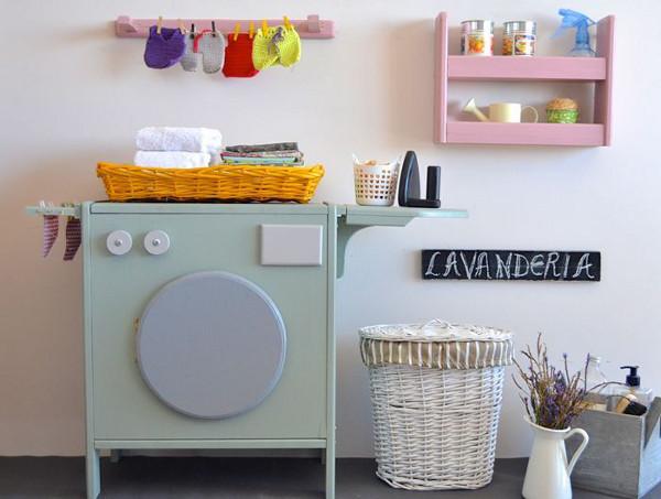 Macarena Bilbao wooden washing machine