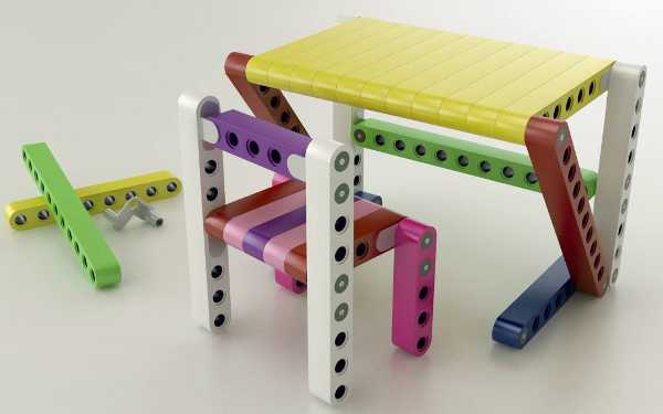 Kids can build their own furniture with Lego-style Olla kits