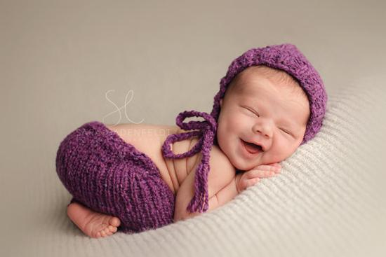 plum newborn hat and pant