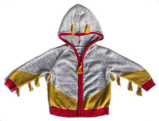 tassled hoodie