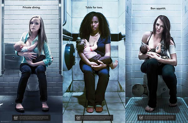 whennaturecalls Ads fight for right to breastfeed in public
