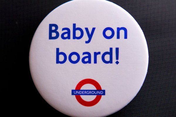 Baby on board badge from London Transport