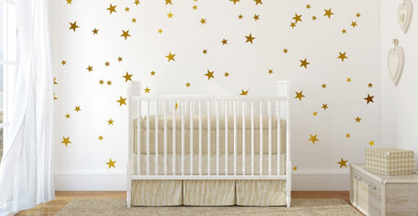 gold star decal