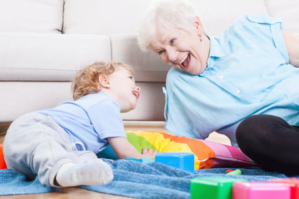 grandma playing with grandchild