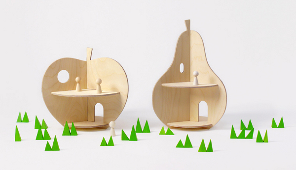 Apple and Pear House dollhouse Rock and Pebble