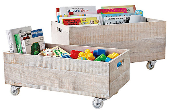 Serena & Lilly rolling crates for stylish toy storage
