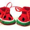 Etsy find of the day – watermelon booties