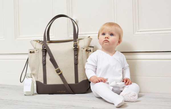 Marie Chantal The Nest with baby The Nest Bag   a luxury baby bag designed by royalty