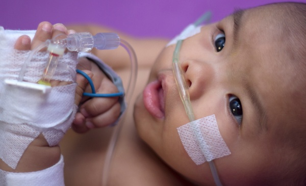 sick baby whooping cough