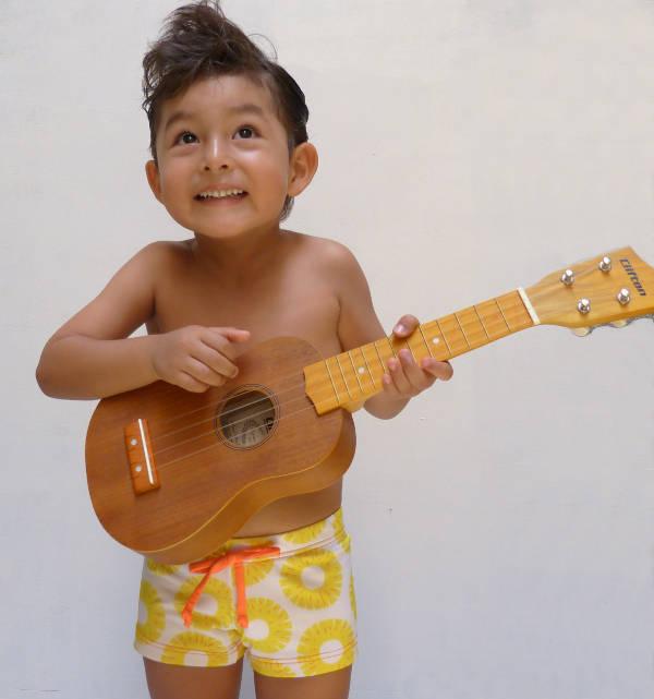 dunadu3 Childrens swimwear with a Blue Hawaii flavour from Minidunadu