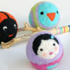 Felted woollen balls from Calypso & Myrsini for baby and toddler play