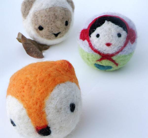 Etsy Calypso & Myrsini felted woollen balls
