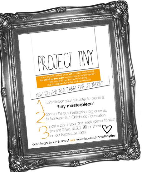 Tiny Masterpieces Project Tiny Australian Childhood Foundation