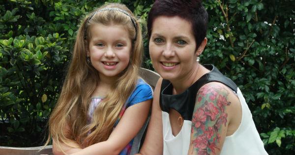 Sam Taylor and daughter Jade