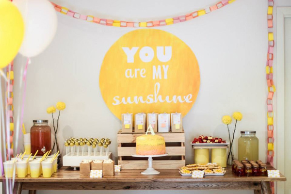 sunshine party 7 Show us your party   Averys You Are My Sunshine birthday