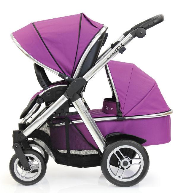 OysterMax-Tandem-Seat(facingaway)+Carrycot-Grape