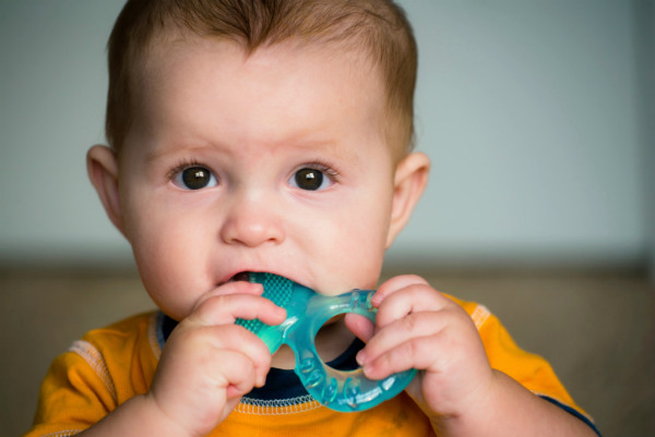 teething baby sl stock
