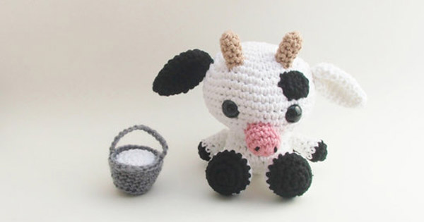 cow Etsy find of the day   crochet Betsy the cow