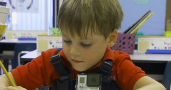gopro How the first day of school looks to a six year old