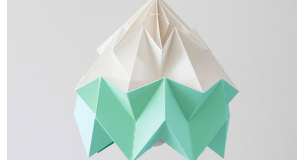 origami light Etsy find of the day   moth origami lampshade