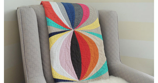 quilt Etsy find of the day   modern geometric baby quilt