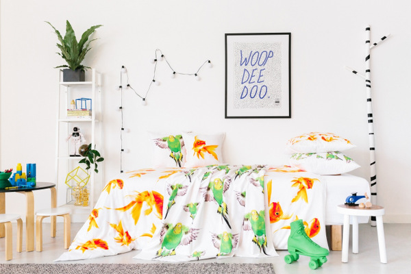 Go wild with new cot and bed linen from Dreamers Inc