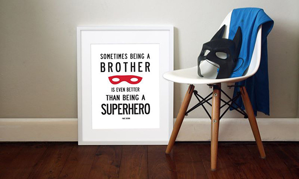 My Sweet Prints brother Nursery art made easy with My Sweet Prints