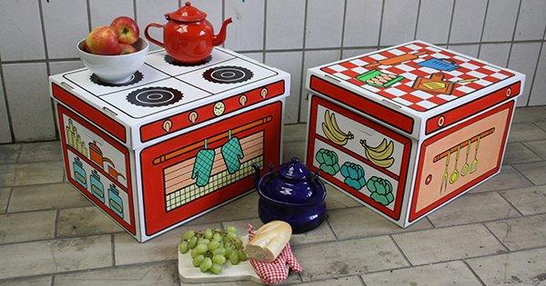 Villa Carton Storage Box Kitchen FB
