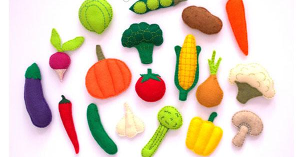 felt vegie Etsy find of the day   felt vegetable magnets