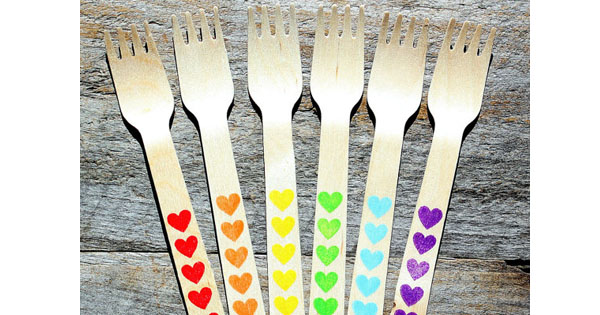 fork Etsy find of the day   wooden party forks