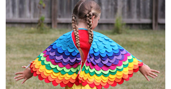 rainbow wings 1 Etsy find of the day   Rainbow wings