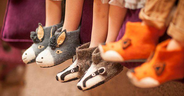 sew heart felt header crop Sweet Sew Heart Felt animal slippers for cuddly and cute feet