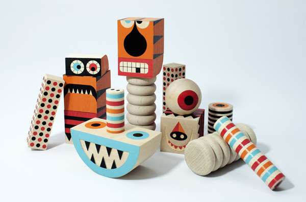 Stack and Scare Roar blocks Uncle Goose Toys