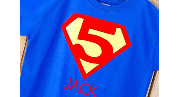 superheo tee Etsy find of the day   customised superhero t shirt