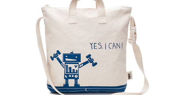 tote bag Etsy find of the day   Yes I Can tote bag