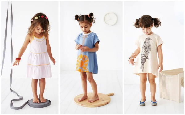 Baobab curved hem and chambray layered dresses