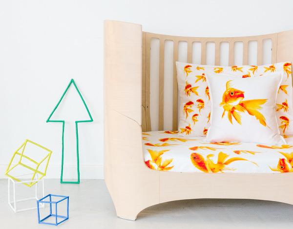 Dreamers Inc kids bedlinen, gold fish linen sheet sets