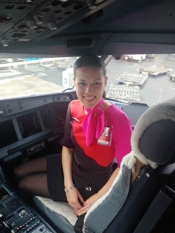 Kirsten Guard flight attendant