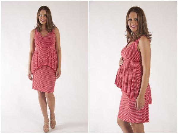 Szabo Maternity Sophie peplum dress