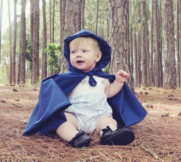 Sparrow Blue Design blue fairytale cape
