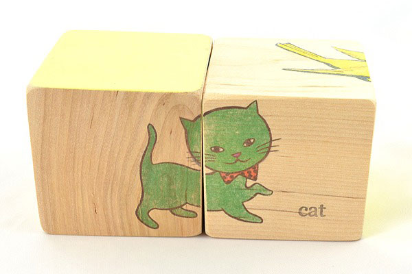 Stacy Wong animal puzzle block cat