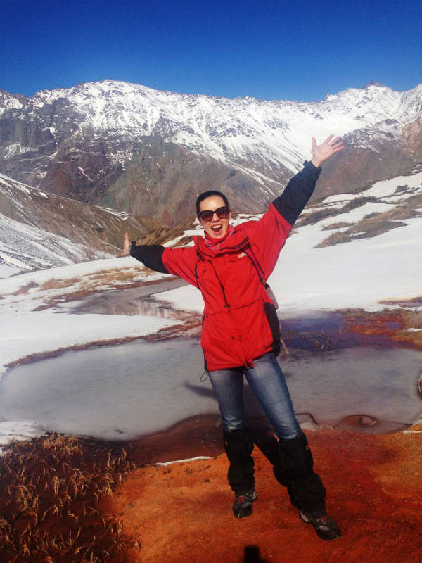 Kirsten Guard in the Andes