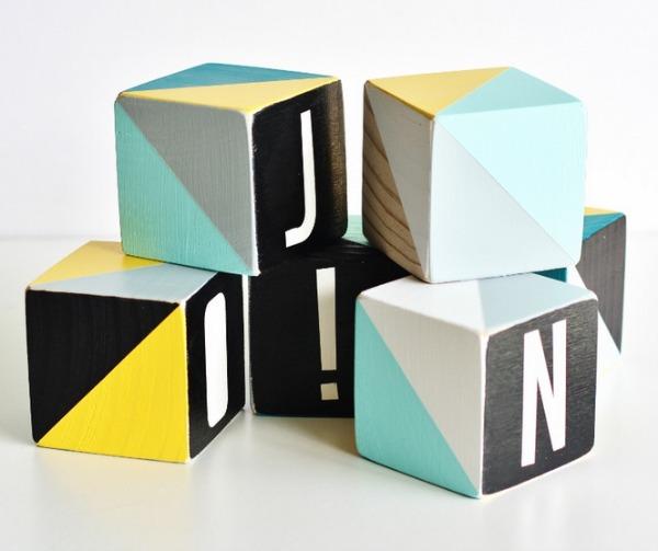 Babee & Me custom letter blocks